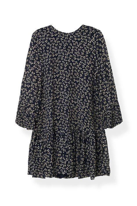 Newman Georgette Dress, Total Eclipse