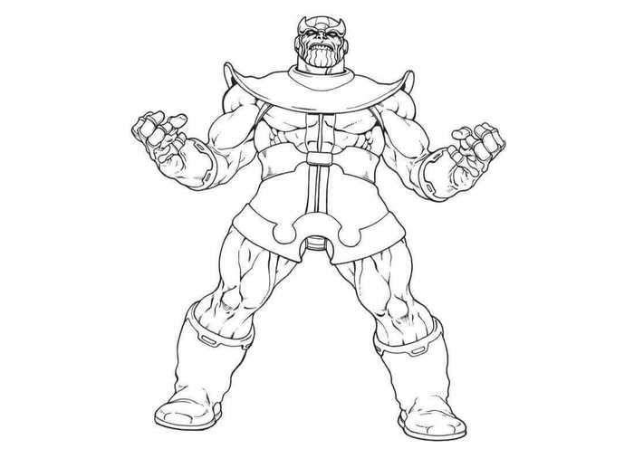 Thanos Coloring Sheets