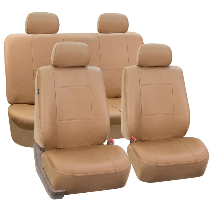 FH Group PU Leather Car Seat Covers Front Low Back Buckets and Solid Bench