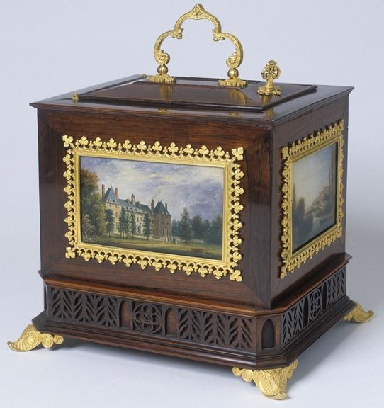 Jewel Box / Casket  by Alphonse Giroux 1775-1848   & Miniatures by Felix…