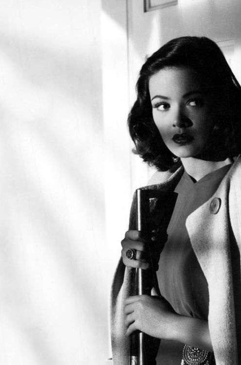 Laura -  The mood of LA noir.  Gene Tierney (1944).  Filmed at Stage 9 (20th Century Fox), Los Angeles