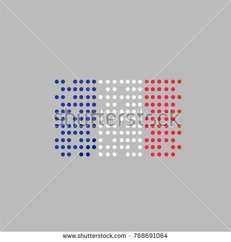 national flag France . dot icon vector