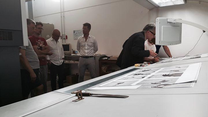 Thomas Roma & SPQR printing one of their book