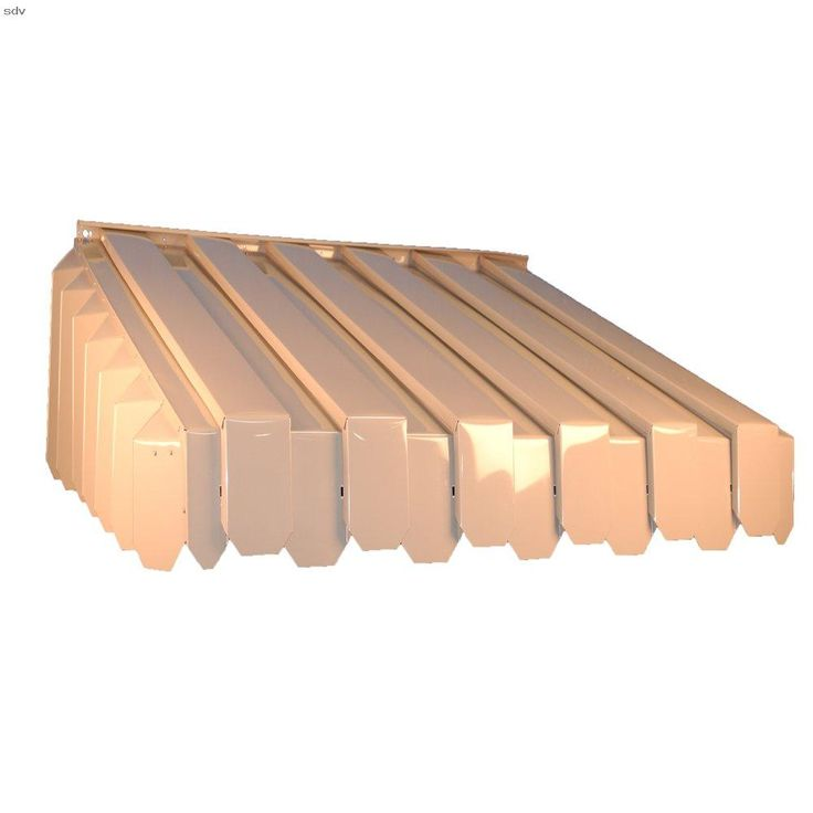 Americana Building Products Aluma Vent Louvered End Style Awning 24 1 2 By 29 By 65 Inch Ivory Vertical Panels Allows Air To Circulate Yet Will Not Leak Eve Di 2020