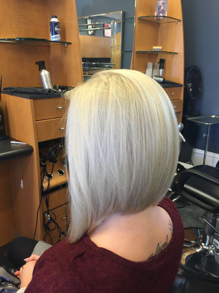 Blonde Inverted Bob Haiiiir Hair Makeup Hair Cuts Hair