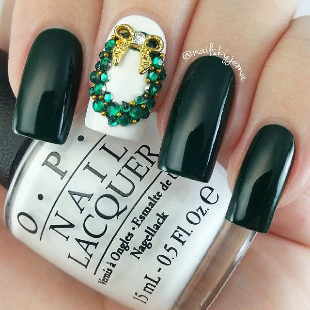 21 best images about nokti on pinterest nail art almond nails the second wreath i did yesterday this one is a little more elaborate but prinsesfo Image collections
