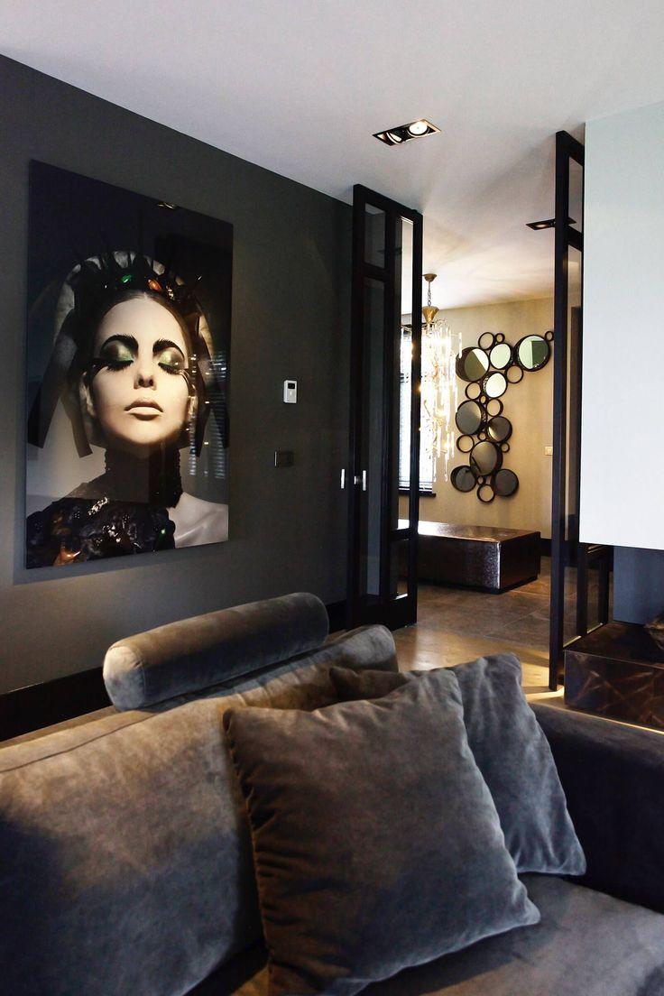 25 beste idee n over woonkamer schilderijen op pinterest warme woonkamers bruine woonkamers - Idee schilderij living ...