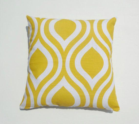 One Slub Corn Yellow Pillow Cases For Size 18x18 by WenasHomeDecor