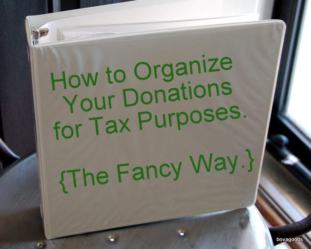 track charitable donations
