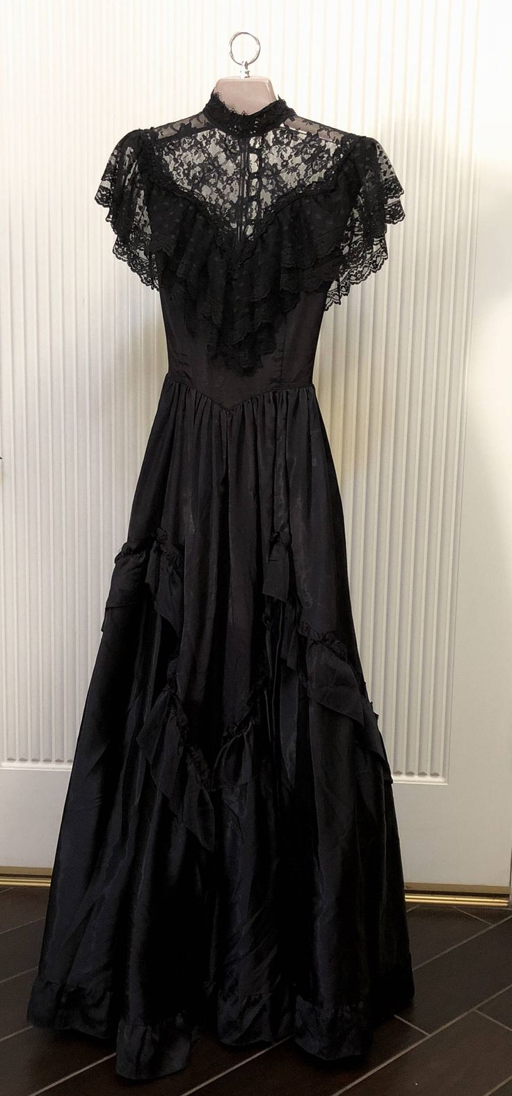 A personal favorite from my Etsy shop https://www.etsy.com/listing/555386436/vintage-gothic-victorian-gunne-sax-black