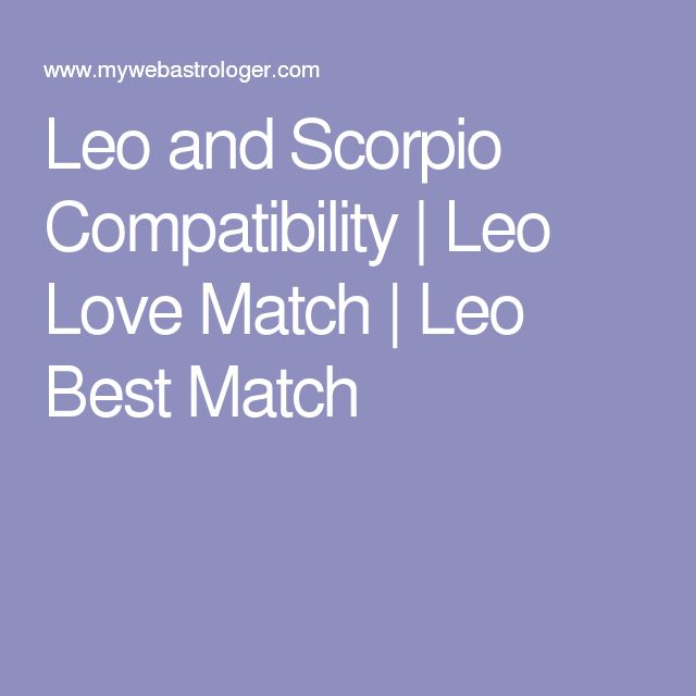 leo and scorpio relationship compatibility