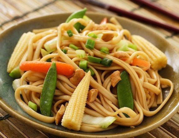 Hoisin-flavored Asian Noodles -- These were too vinegar-y.  Next time will use something instead of vinegar.  Veggie broth?  White wine?
