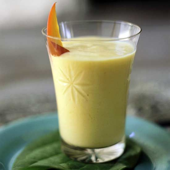 The Perfect Prenatal Smoothie: Mango Ginger This rich and creamy smoothie gets a bit of protein from low-fat Greek yogurt, and a delicious jolt of flavor from crystallized ginger (which also happens to relieve morning sickness!).
