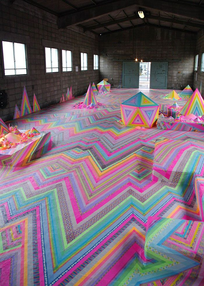 Australian Artist Tanya Schultz Uses Thousands Of Candies To Turn Rooms Into Sweet Wonderlands