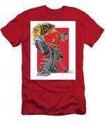 Corey Crawford Chicago Blackhawks Oil Art Men's T-Shirt (Athletic Fit)