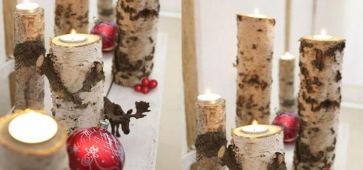 Dekoracje świąteczne - brzozowe świeczniki | Jedyny serwis dla kobiet z nagrodami za czytanie na temat moda 2013, uroda, zdrowie