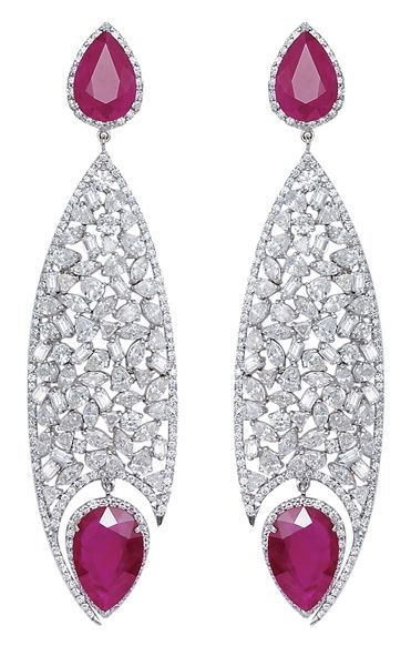 ruby Fish Eye earrings