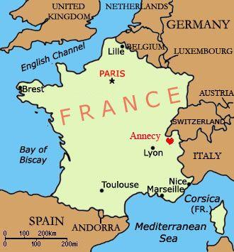 Map Of France Showing Lyon.Annecy France Map Recana Masana