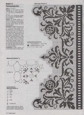 Victoria - Handmade Creations : Δύο σχέδια δαντέλας για κουρτινάκια παραθύρου