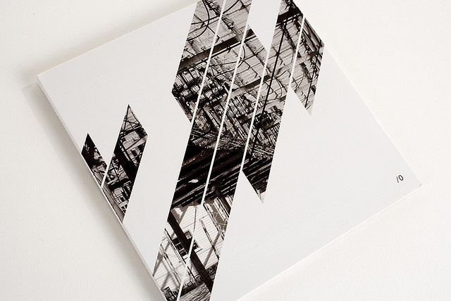 "Packaging design for Zbigniew Karkowski and Antimatter's ""Divide by Zero."" Released 2007 on Antifrost, Greece.  Photography by Xopher Davidson.  Design by R. Yau."