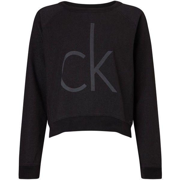 Calvin Klein Juisa Logo Sweatshirt , Meteorite (925 SEK) ❤ liked on Polyvore featuring tops, hoodies, sweatshirts, meteorite, long sleeve tops, long sleeve sweatshirt, calvin klein, calvin klein tops and logo tops