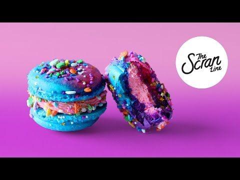 UNICORN MACARONS - The Scran Line - YouTube