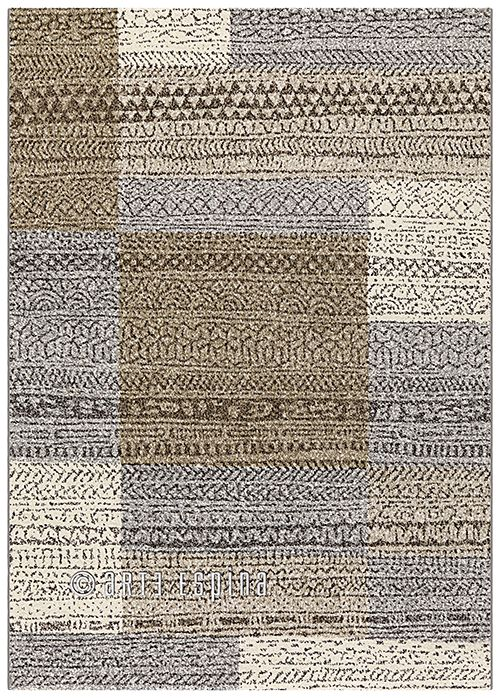 A nude carpet with squares