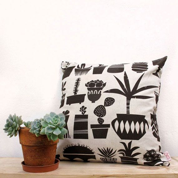 Cushion cover 50x50cm  Succulents in Marrakesh by skinnylaminx, $35.70