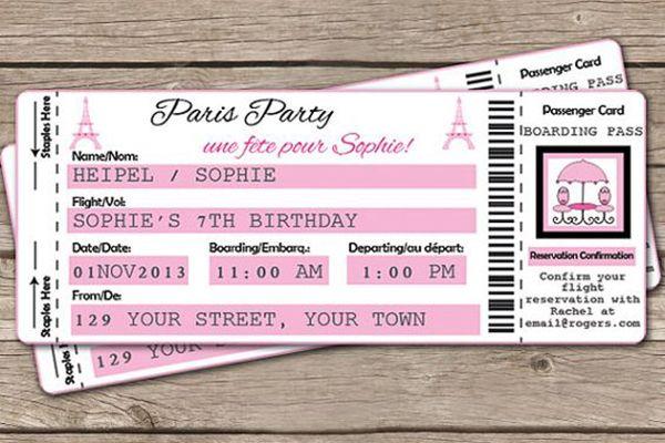 Confira 15 ideias de convites para festa de 15 anos com tema Paris.