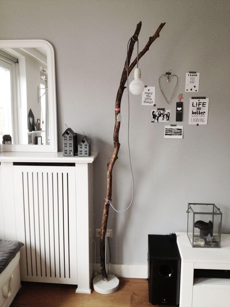 DIYlamp woonkamer kaarten maskingtape