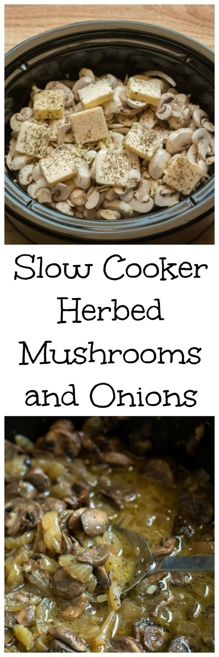 Slow Cooker Herbed Mushrooms and Onions