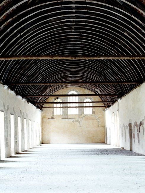 Empty Warehouse Space with Barrel Roof   Inspirational Industrial Buildings   Loft Living   Warehouse Home Design Magazine