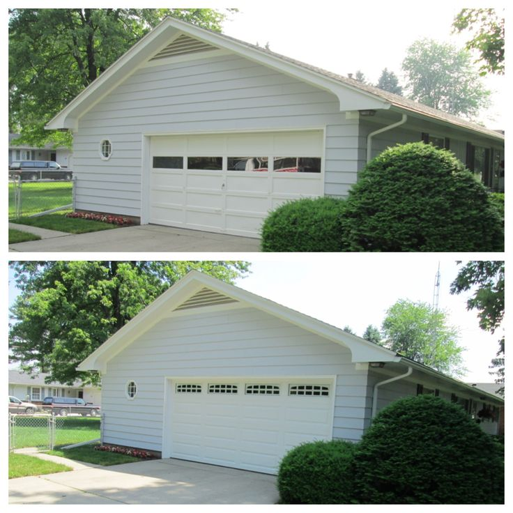 67 best before after images on pinterest carriage for R value of old wood garage door