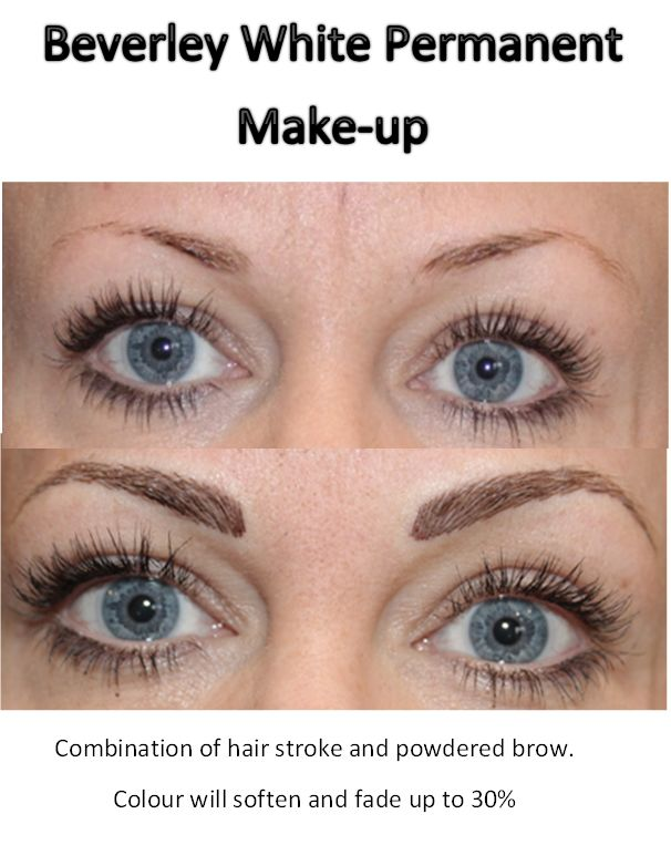 Beverley White Permanent Make Up Combination Of Hair