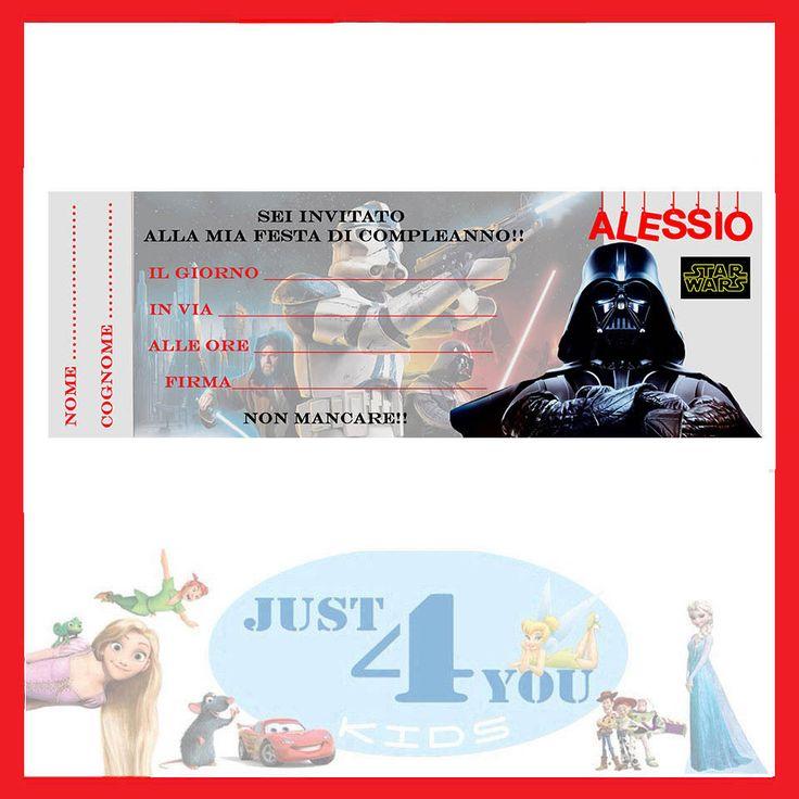 Inviti festa STAR WARS 30 inviti - compleanno personalizzabile in Casa, arredamento e bricolage, Feste e occasioni speciali, Feste e party | eBay