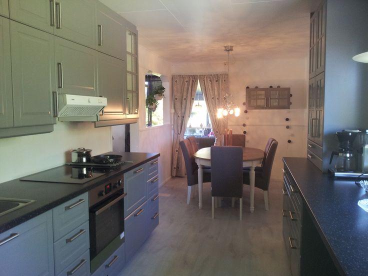 Mitt nye kjøkken Bodbyn grått fra Ikea, Grey kitchen fra Ikea ...