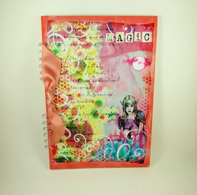 Large A4 Handmade Scrapbook Album or Journal,  Elf can be Personalised