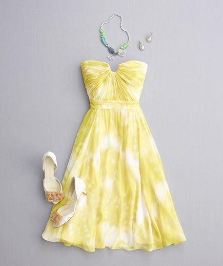 Yellow dress for summer – Dress and bottoms