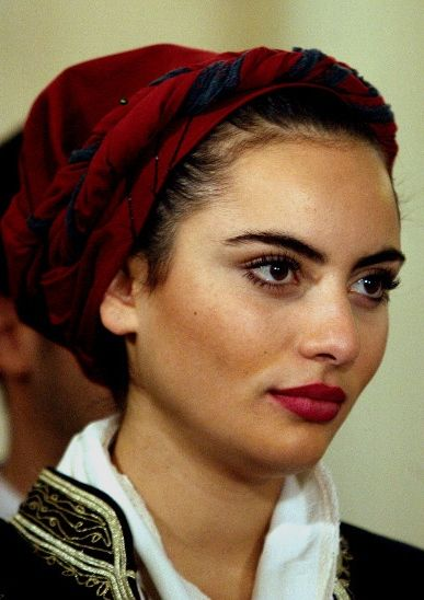 "Beautiful Cretan girl. She is a traditional dancer for the ""Vrakoforoi"" dancing group. Isn't she lovely?"