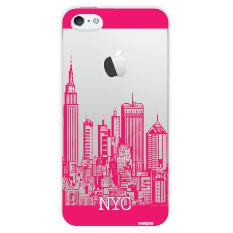 Coque Crystal City Rose pour Apple iPhone 5/5S