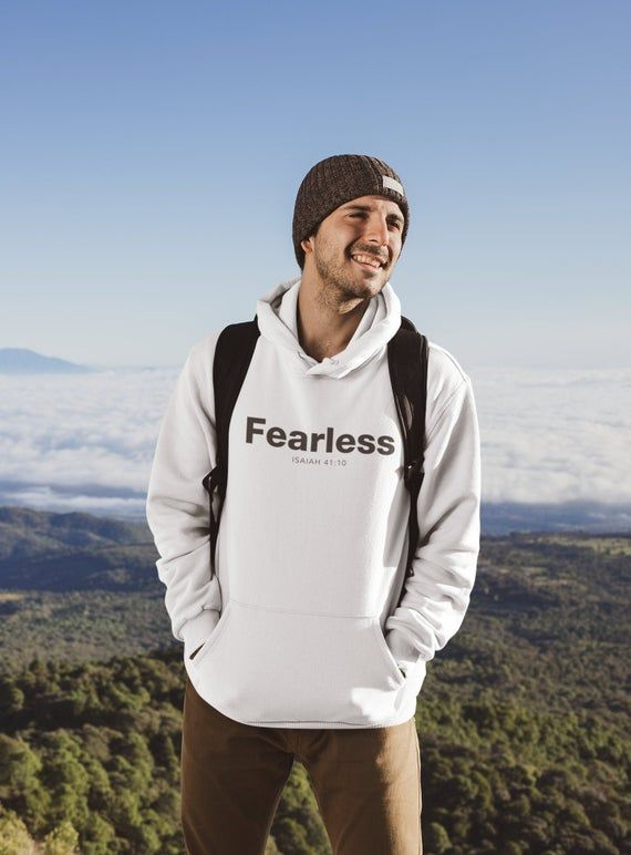 Download Fearless Hoodies For Men Christian Hoodie Faith Hoodie Cool Etsy In 2020 Hoodies Men White Hoodie Men Hoodie Mockup