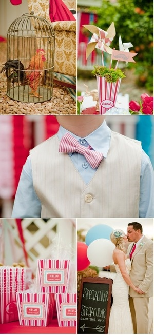 More Whimsical DIY stuffVintage Carnivals, Circus Theme, Bows Ties, Birdcages, Circus Carnivals, Carnivals Circus, Diy Stuff, Backyards Carnivals, Circus Wedding