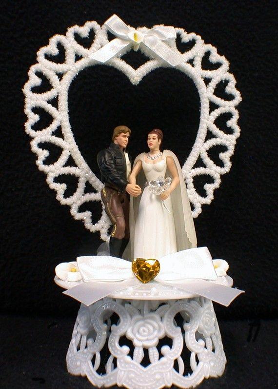 STAR WAR Han Solo Princess Liea Wedding Cake by YourCakeTopper