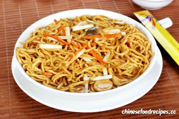 The Difference Between Chow Mein and Lo Mein  Chow mein and lo mein are Chinese food made from wheat-flour egg noodles. Mein is a Chinese word for noodles. They come from northern China where wheat dishes are more popular than rice dishes. They are also available in American cuisine as well. There are also many cuisines found in different regions worldwide. They both have the same nutritional value while the level of healthiness depends on ingredients used.