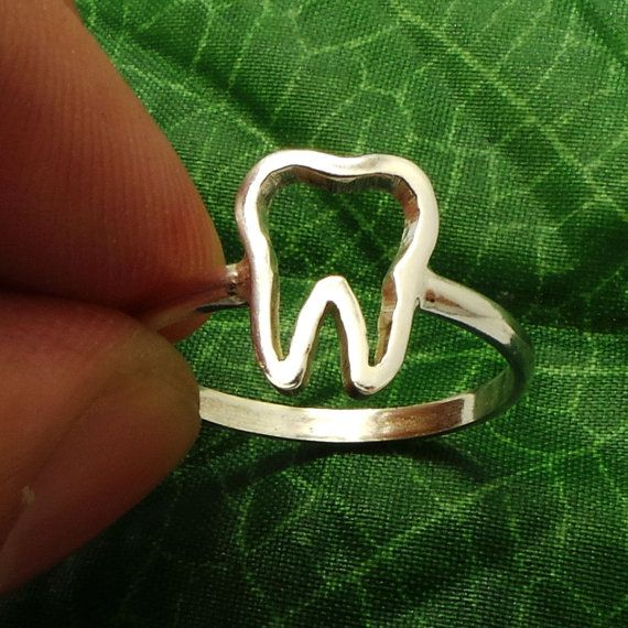 Silver Tooth Ring Tooth Jewelry Teeth Ring Teeth by yhtanaff