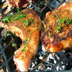 Garlic and lemon lamb chops. In the oven or on the braai for that authentic smoky taste.