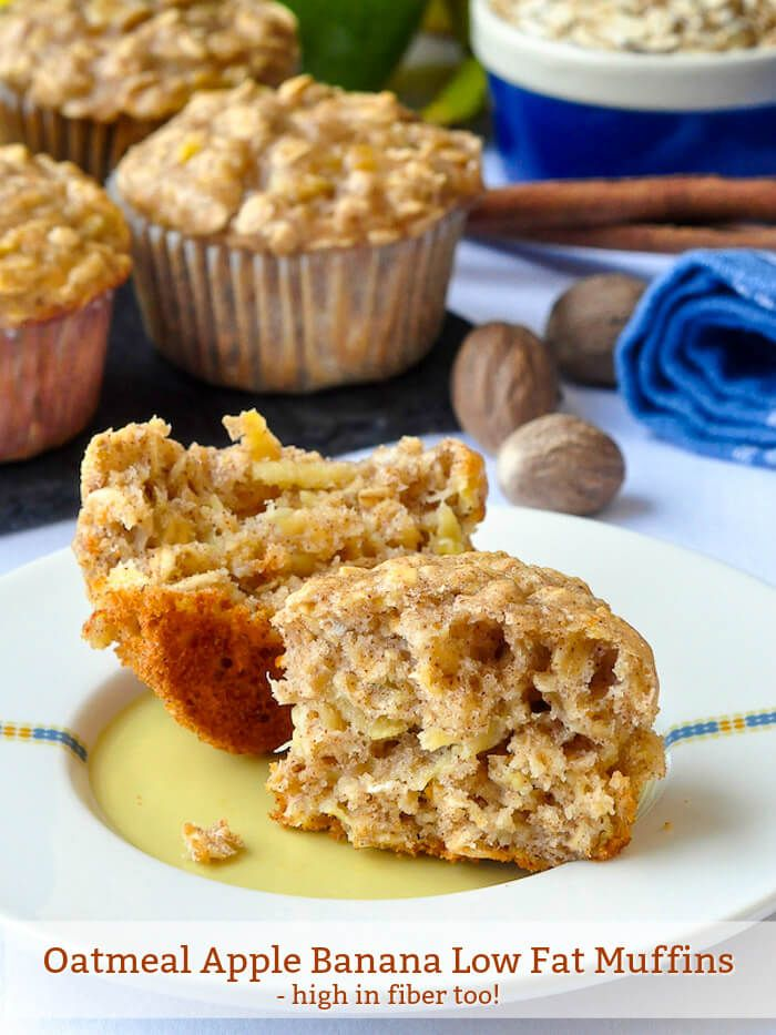 Oatmeal Apple Banana Low Fat Muffins - high in fiber too!.jpg