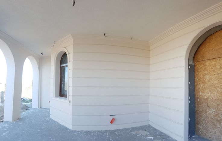 Panou decorativ cu caneluri CoArtCo pentru intrare casa