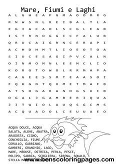 Undearwater life word search for kids