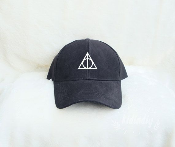 Deathly Hallows Baseball Hat Harry Potter Cap Embroidered Baseball Caps Cotton Hats Pinterest Instagram Tumblr